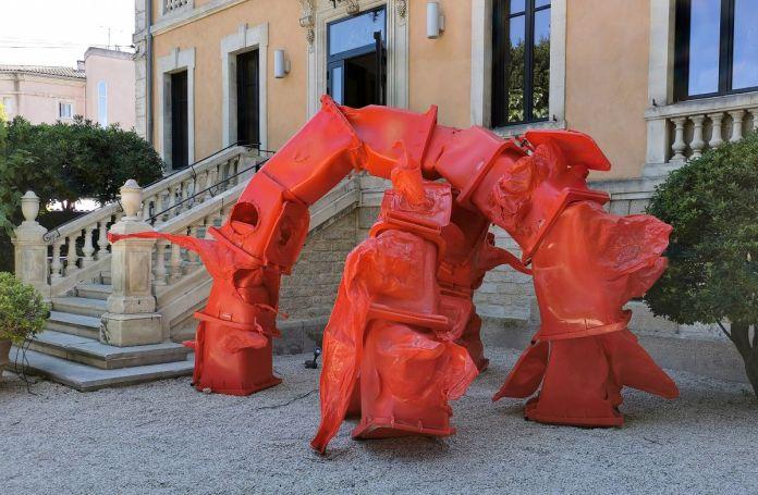 Anita Molinero - Sans titre (floraison pour Nollopa), 2017 Recyclage-Surcyclage à la Villa Datris - Vue de l'exposition