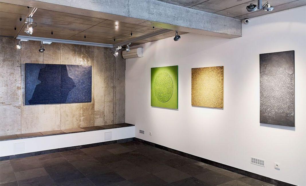 Pascale Hugonet – vue de l'exposition «Épigraphies» à la Galerie Bartoli – Marseille