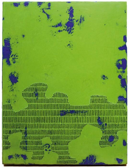 Pascale Hugonet - Epigraphie 23, 2020 - 37,5 x 29cm - Cire et pigments sur CP monté sur châssis