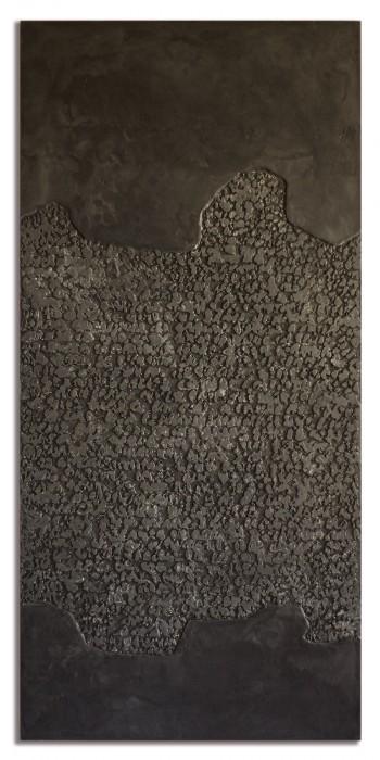 Pascale Hugonet - Stratigraphie 22, 2020 - 114 x 54cm - Cire et pigments sur CP monté sur châssis