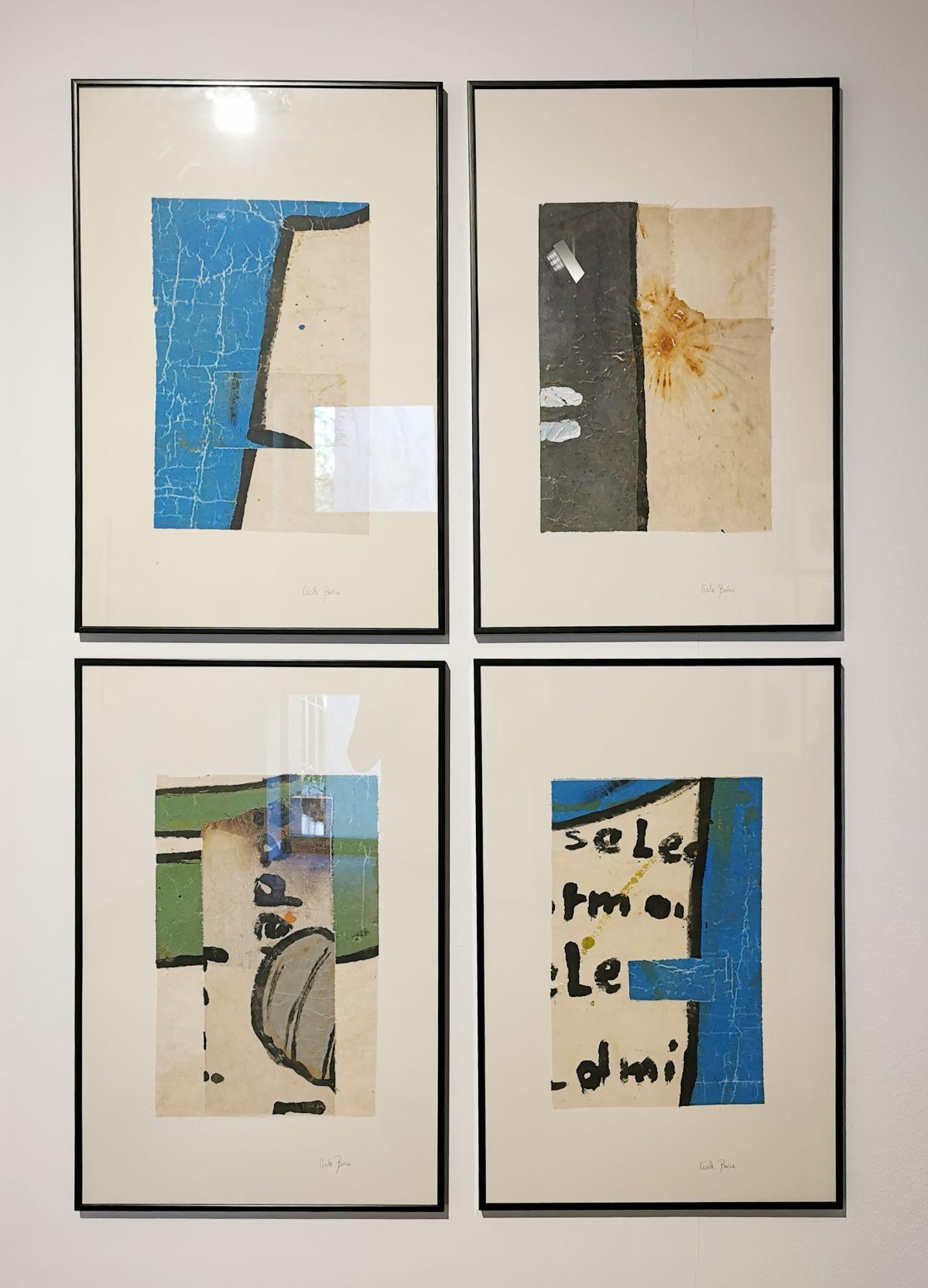Cécile Borne - #Apprends à nager (1 à 4), 2019-2020 - 4 à 4 au Musée Paul Valery - Sète