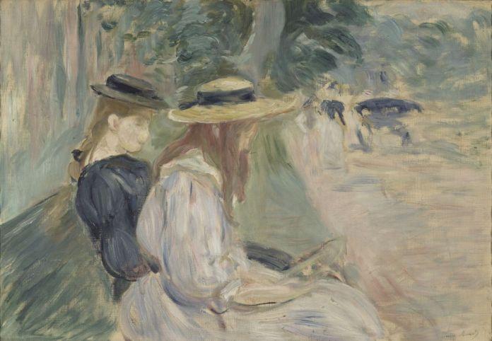 Berthe Morisot - Sur un banc au bois de Boulogne, 1894