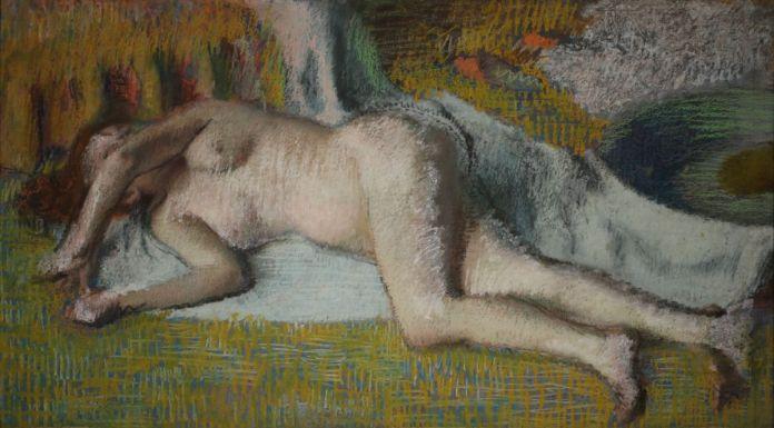 Edgar Degas - Après le bain (femme nue couchée), c. 1885