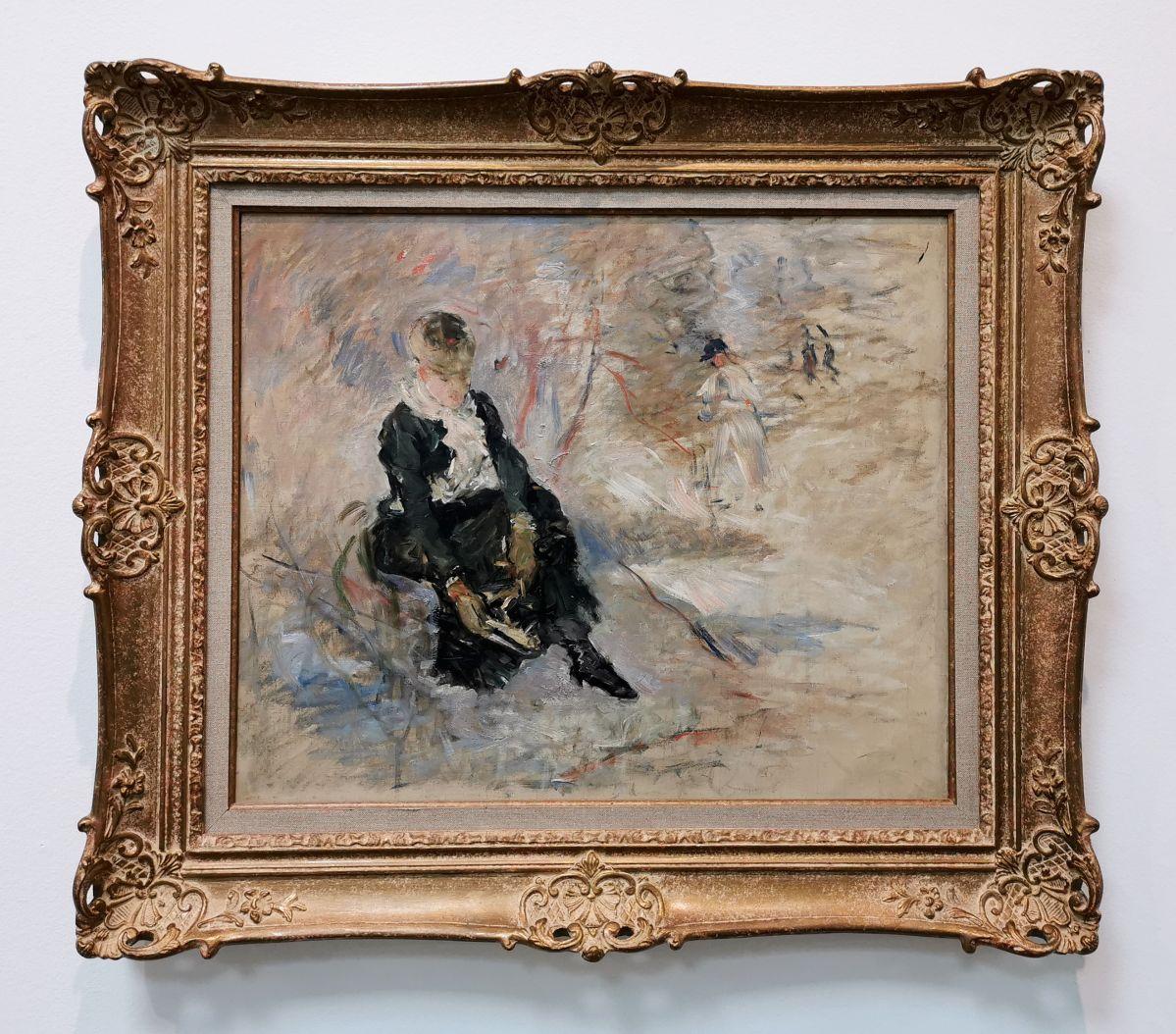 Berthe Morizot - Jeune femme remettant son patin, 1880 - Paul Valéry et les peintres - Le cercle familial - Musée Paul Valéry à Sète