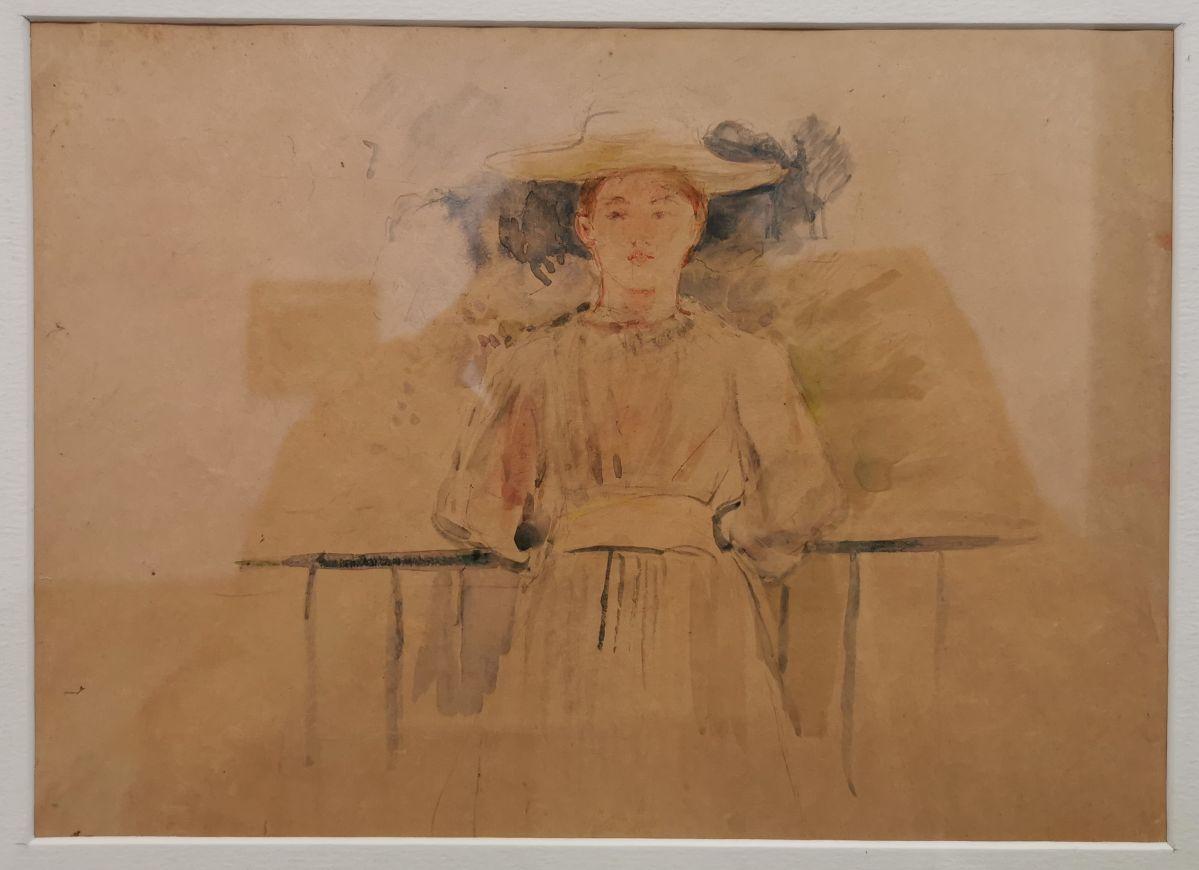 Berthe Morizot - Portrait de Paule Gobillard, 1894 - Paul Valéry et les peintres - Le cercle familial - Musée Paul Valéry à Sète