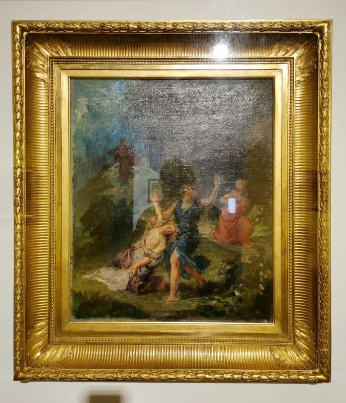Delacroix - Orphée secouant Eurydice,c 1856 - Paul Valéry et les peintres - Autres regards de Valéry sur les peintres depuis sa jeunesse - Musée Paul Valéry à Sète