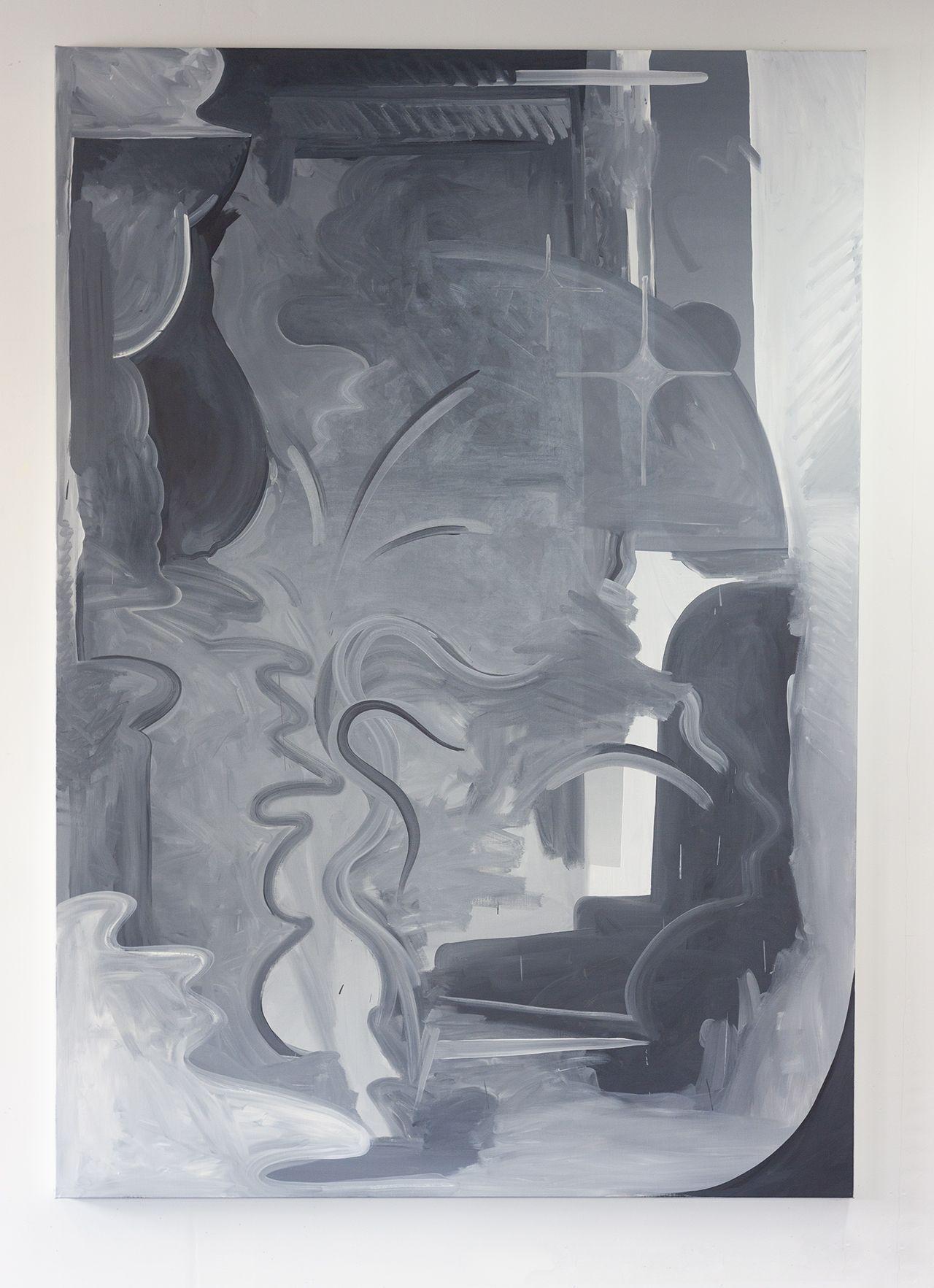 Hugo Capron, Space cocktail, huile sur toile, 200×145, 2020