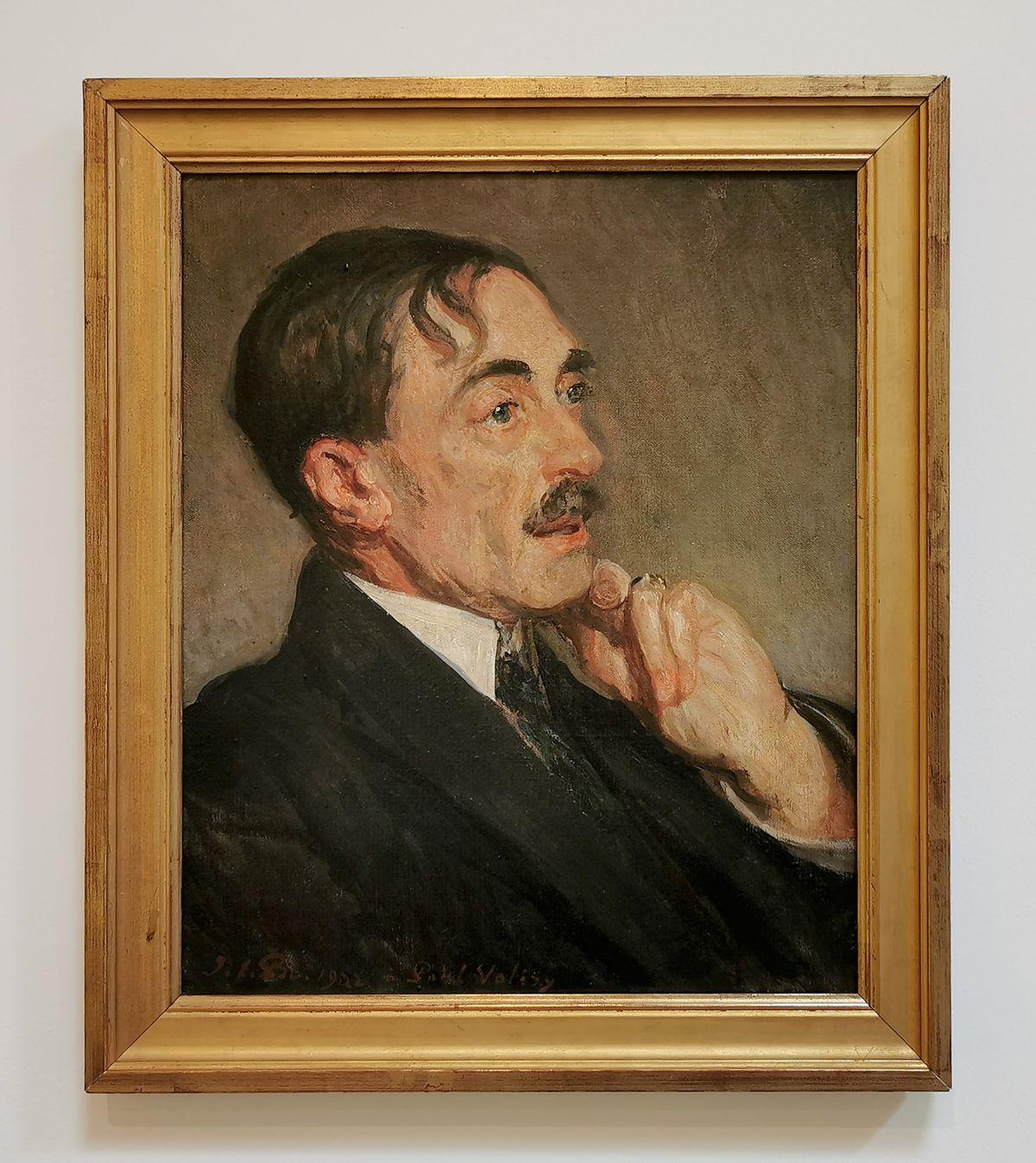 Jacques Émile Blanche - Portrait de Paul Valéry, 1923 - Paul Valéry et les peintres - Le cercle amical proche - Musée Paul Valéry à Sète