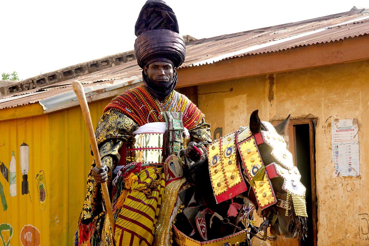 Native Maqari et Simon Rouby - Black Samourai, Processions du Durbar, Zaria, Nigeria, credit Simon Rouby, 2018