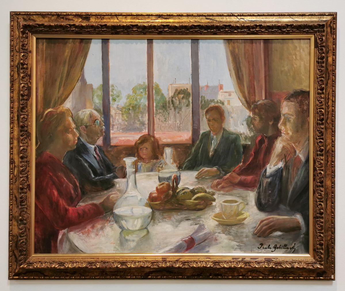 Paule Gobillard - Fin de repas, 1940 - Paul Valéry et les peintres - Le cercle familial - Musée Paul Valéry à Sète