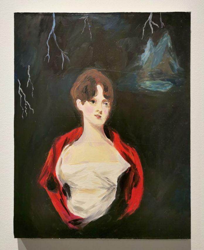 Karen Kilimnik - Mary Shelley Writing Frankenstein, 2001 - 00s - Collection Cranford - les années 2000 au MOCO Montpellier