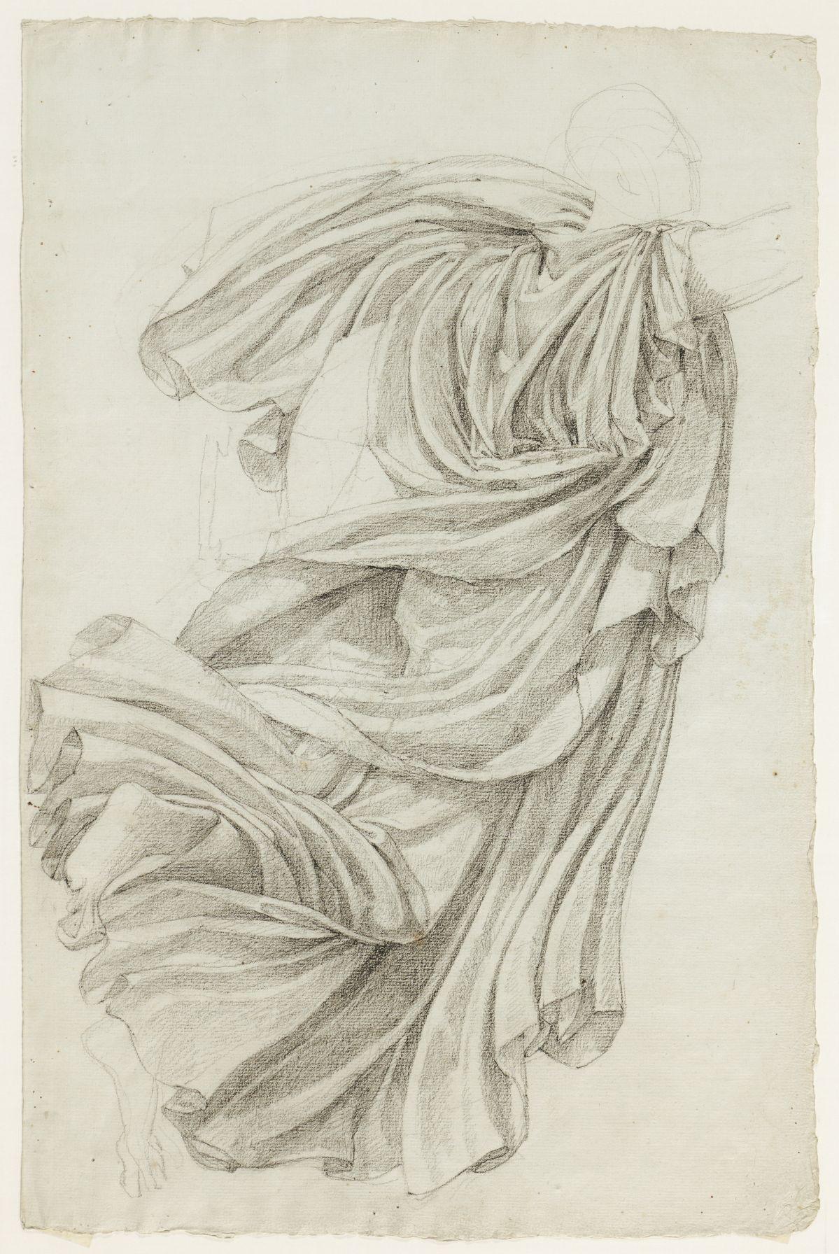Jacques Réattu - Plafond du Grand-Théâtre de Marseille, étude de draperie pour la muse Clio Arles, 1819