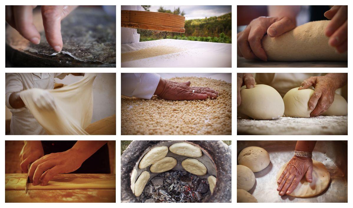 Les gestes de la transformation du blé en Tunisie, en Crète, au Portugal, en Sicile - Christine Coulange – Sisygambis © Sisygambis - Les 7 portes