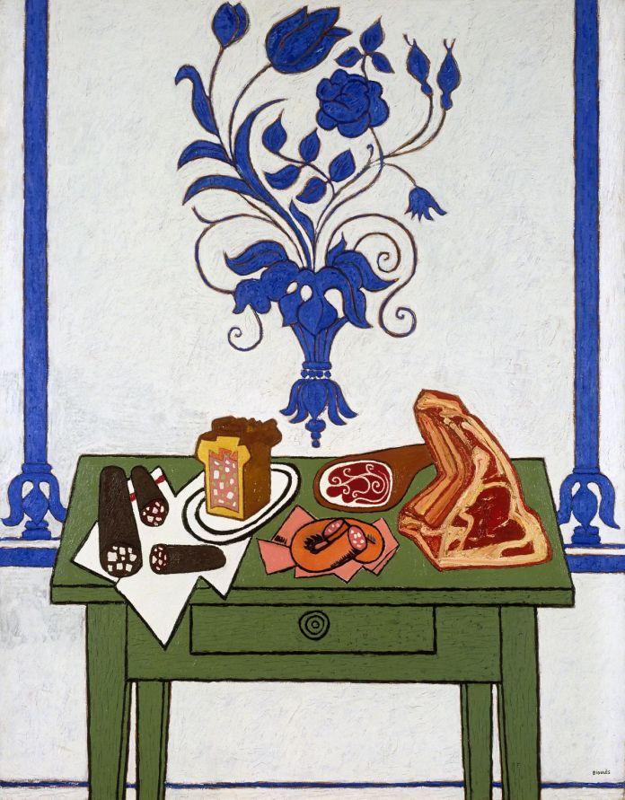 Vincent Bioulès, Le déjeuner de gras, 1982 © Adagp, Paris, 2020 photo Pierre Schwartz