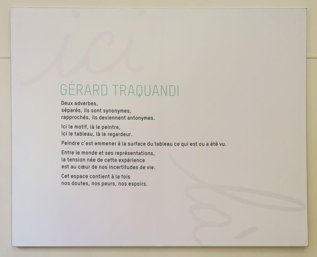 Gérard Traquandi - «Ici, Là» au Musée Cantini - Marseille