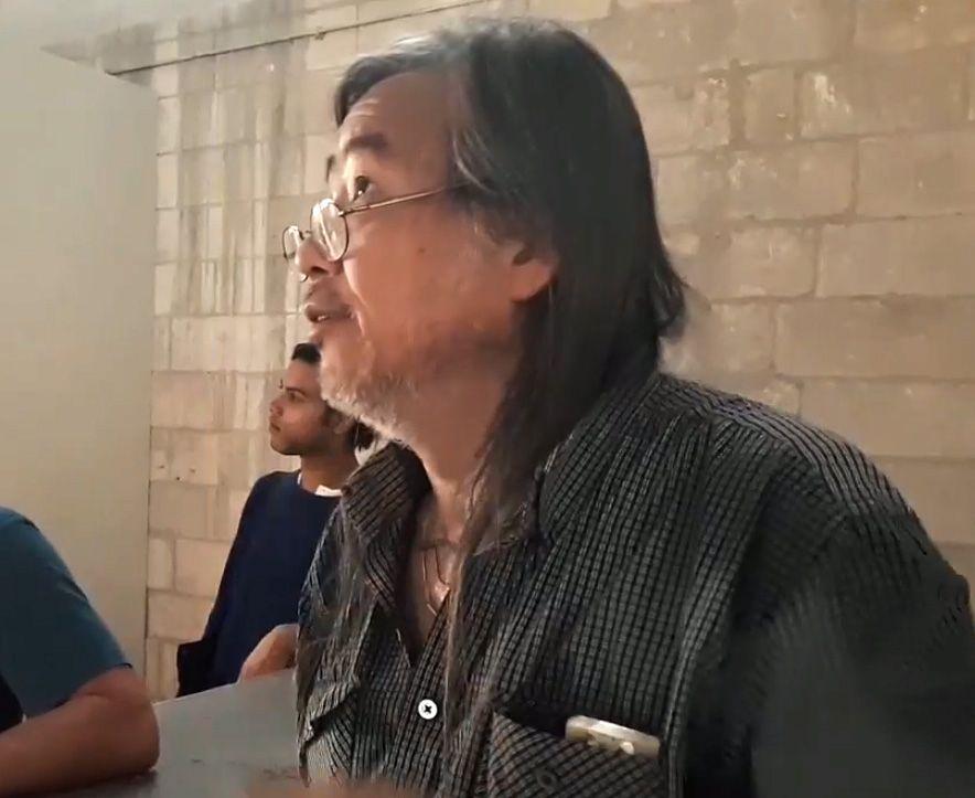 Yan Pei-Ming à la Grande Chapelle du Palais des Papes en 2019