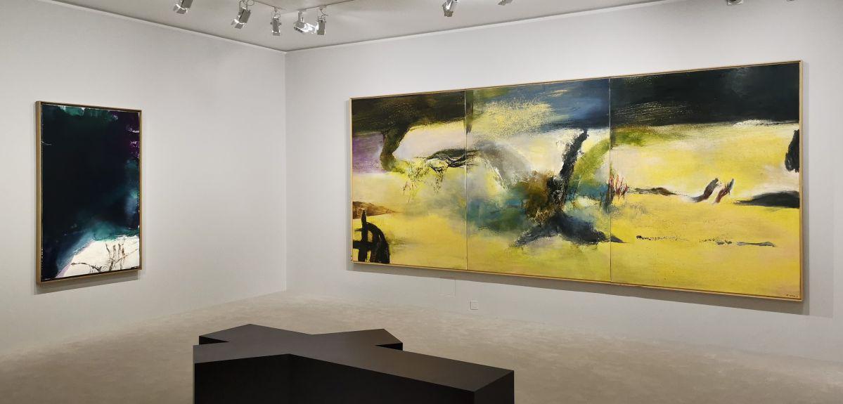 Zao Wou-Ki - Il ne fait jamais nuit à l'Hôtel de Caumont - Vue de l'exposition
