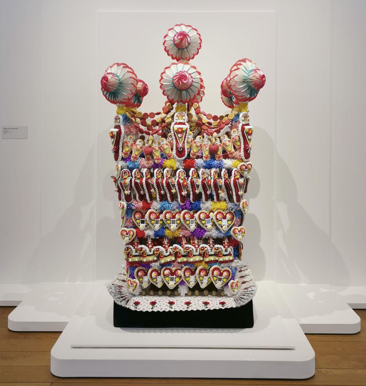 Gâteau de mariage - Jeff Koons au Mucem - Œuvres de la Collection Pinault - Salle 5 - vue de l'exposition