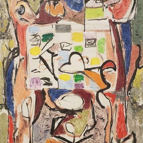 Jackson Pollock, The Tea Cup [La Tasse à thé], 1946, huile sur toile, 102 x 70,5 cm - Photo Eric de Chassey