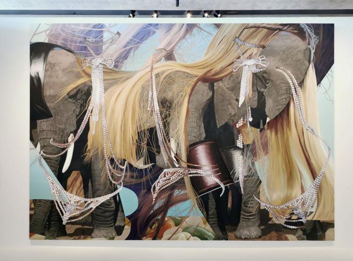 Jeff Koons – Elephants, 2001 - Jeff Koons au Mucem - Œuvres de la Collection Pinault - Salle 7 - vue de l'exposition