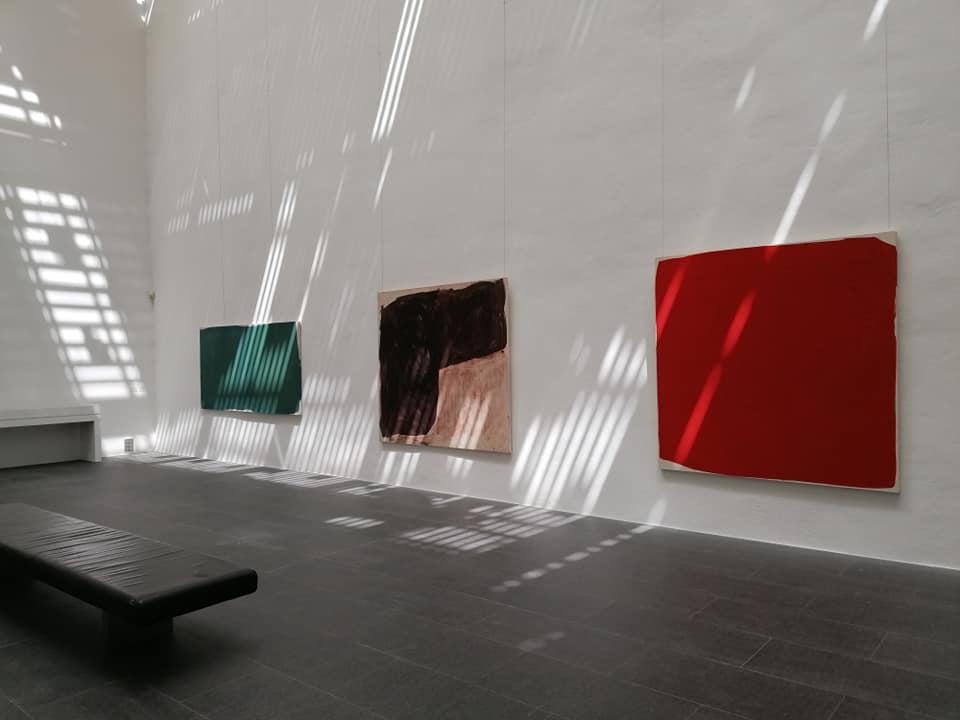 Stéphane Bordarier - Musée Fabre - Accrochage dans l'atrium Richier Photo michel Hilaire