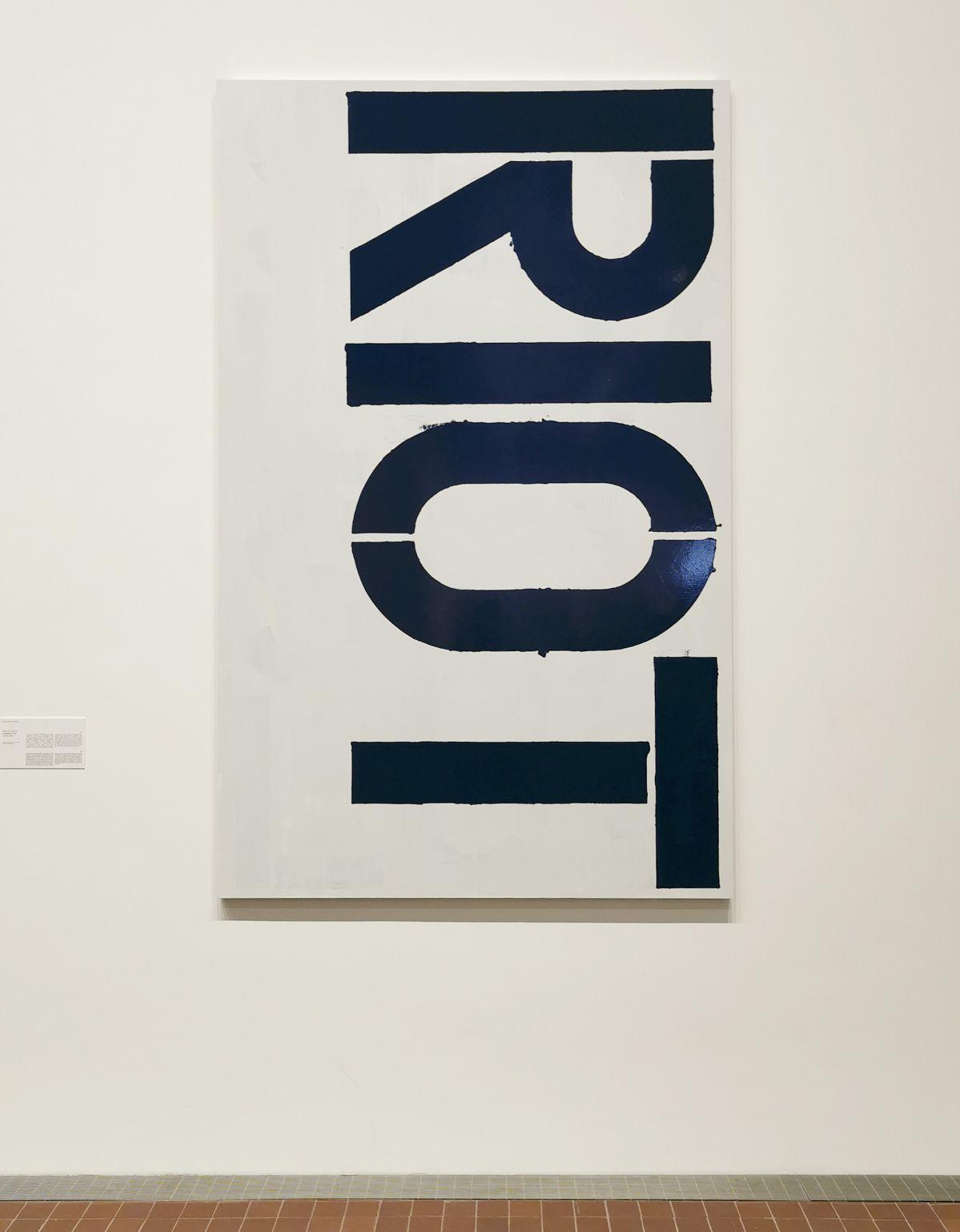 Christopher Wool - Sans titre (P135), 1989-1990 - The Impermanent Display , Collection Maja Hoffmann - Luma Arles 2021