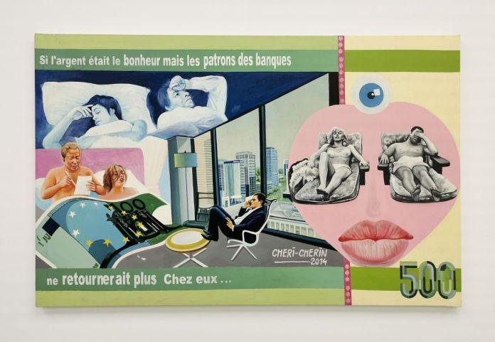 Chéri Chérin - Si l'argent était le bonheur, 2014 - Distance critique - Cosmogonies - Zinsou, une collection africaine au MOCO-Hôtel des collections