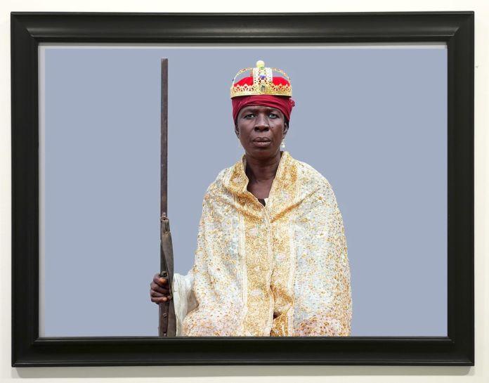 Ishola Akpo - projet AGBARA Women serie, Akin (la bravoure en yoruba), 2020 - Identité et Mémoire - Cosmogonies - Zinsou, une collection africaine au MOCO-Hôtel des collections