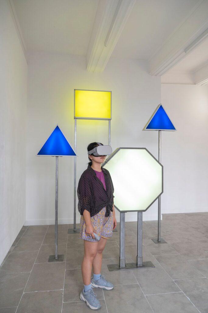 Mona Young-eun Kim - Doublage, 2021 - Vue de l'exposition Doublage à la galerie ALMA - Montpellier - Photo Aloïs Aurelle