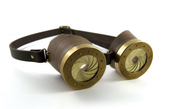 """Goggles Device 2, or """"Device to regulate the flow of excessive information we are subjected to"""" ©Enrica Prazzoli"""