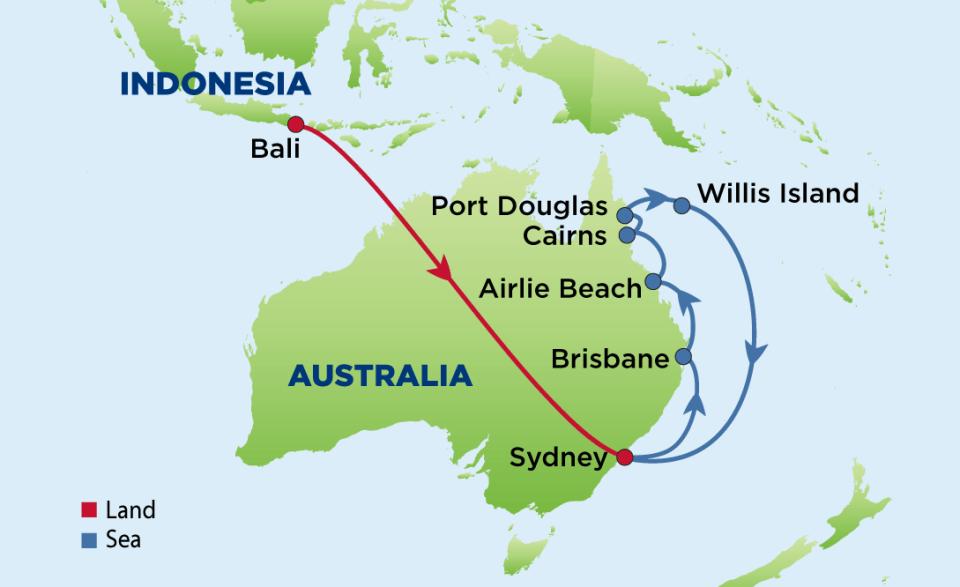 Map of Bali, Sydney and Australia\'s East Coast - Enrichment ...
