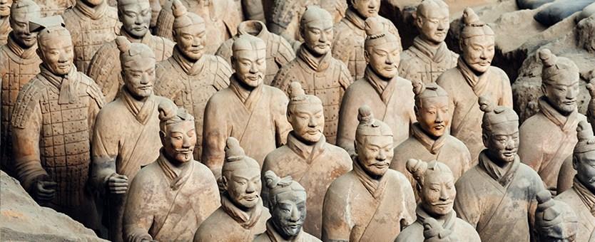 Terracotta Warrior Army in Xian, China
