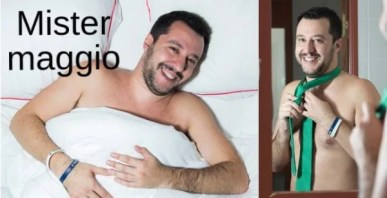 Italiani gay-calendario politici-salvini