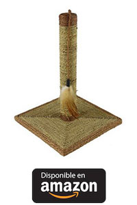 Rascador Gatos Juguetes Gatos con un base con material rugoso que le ayudará a afilarse las uñas 30 * 30 * 41 cm.