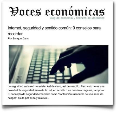 Internet, protección y sentido común: 9 sugerencias para recordar - Voces Económicas