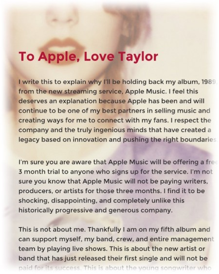 To Apple® - Taylor Swift