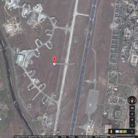 Pathankot air base (IMAGE: Google® Maps)