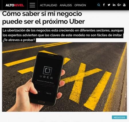 Cómo saber si mi negocio puede ser el siguiente Uber - Alto Nivel