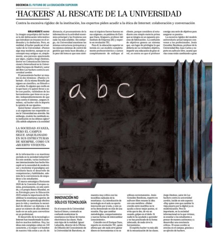 Hackers al rescate de la facultad - El Mundo (pdf)
