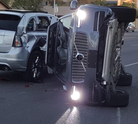 Uber accident (IMAGE: Fresco News)