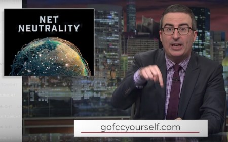 John Oliver crashing FCC site