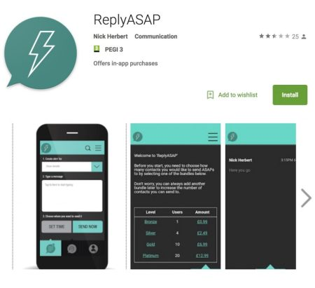 ReplyASAP - Android® Play Market