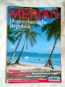 Merian German Tourism Magazine. Article about Enriquillo Amiama artist.