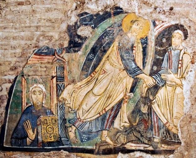 Frescos basílica paleocristiana de San Clemente en Roma