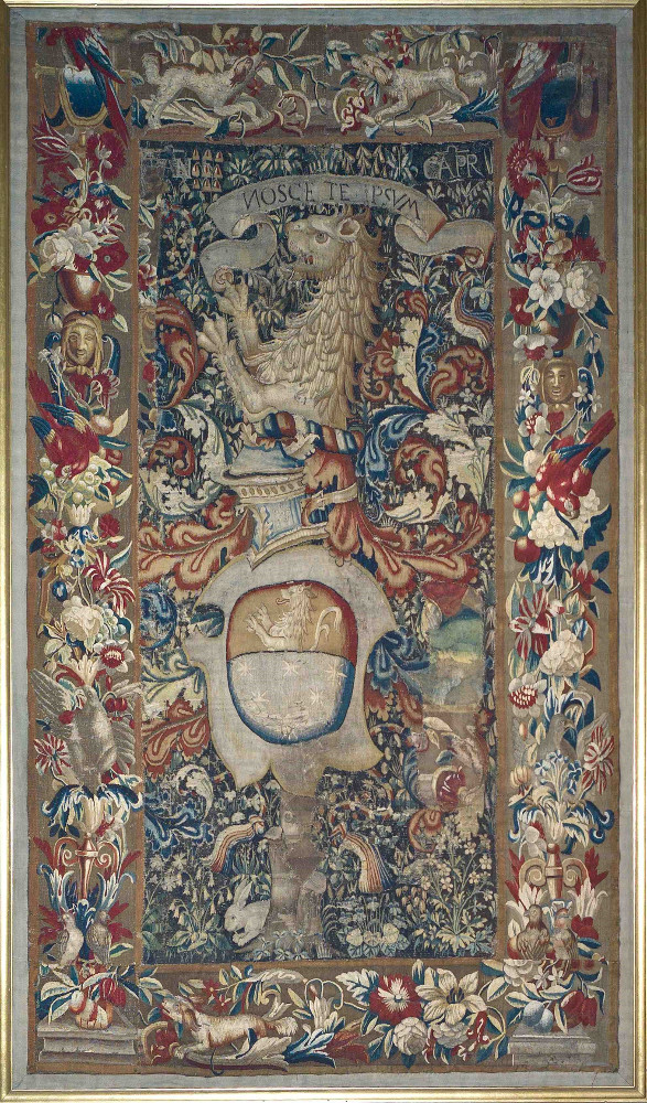 tapiz embajada españa nosce te ipsum ecos de Roma