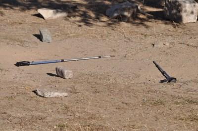 Premier arrivé, premier servis, je marque mon emplacement avec mes bâtons