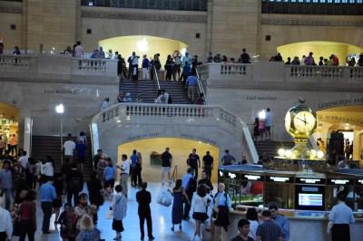 L'imposant escalier de la Gare Centrale