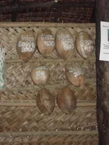 Carte des boissons sur Moso Island