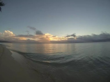 Fin de journée tranquille sur Reef Island