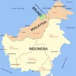 Carte de Bornéo